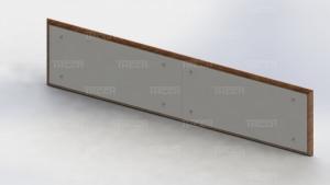 Отбойник стеновой из HPL пластика