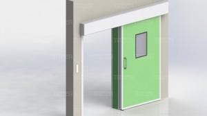 """Дверная коробка откатной двери для чистых помещений """"TISSA-CR"""""""